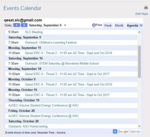 QESST Outreach options can be seen on our QESST Calendar